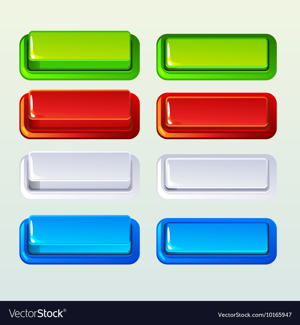 Push buttons for a game or web design element vector