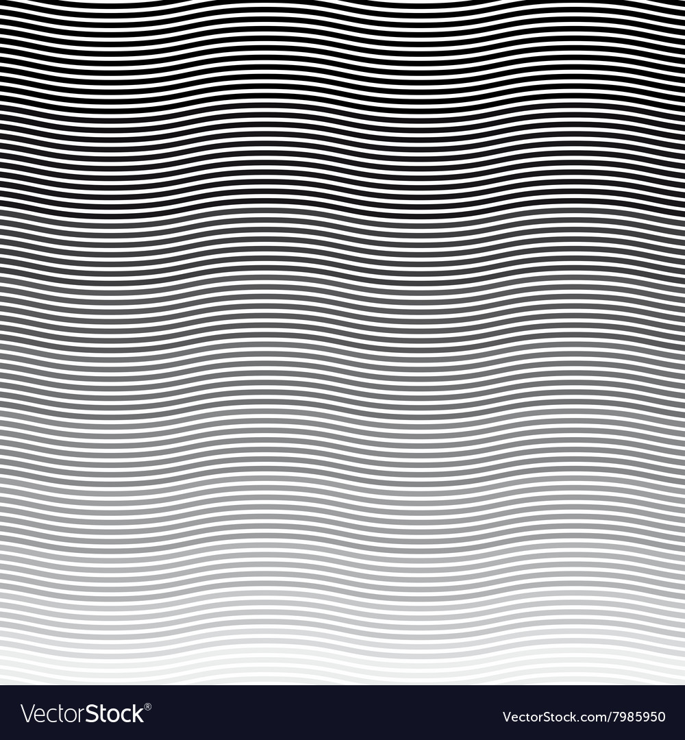 Background wavy stripes pattern vector