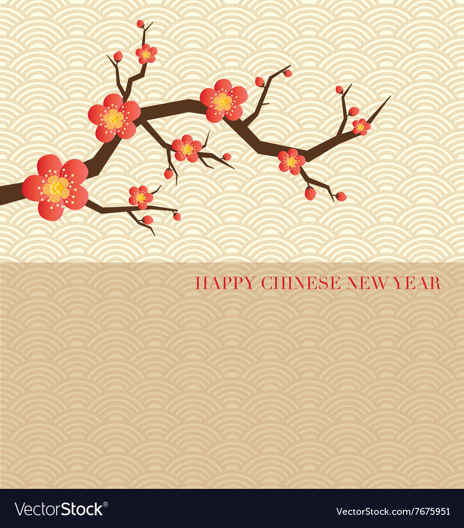 Chinese new year greeting card vector