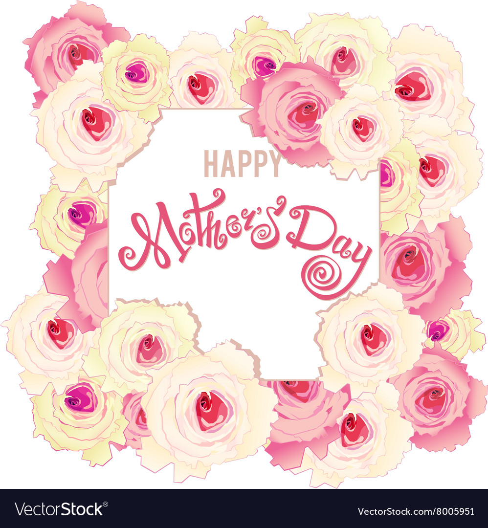Happy mothers day card handmade calligraphy and vector