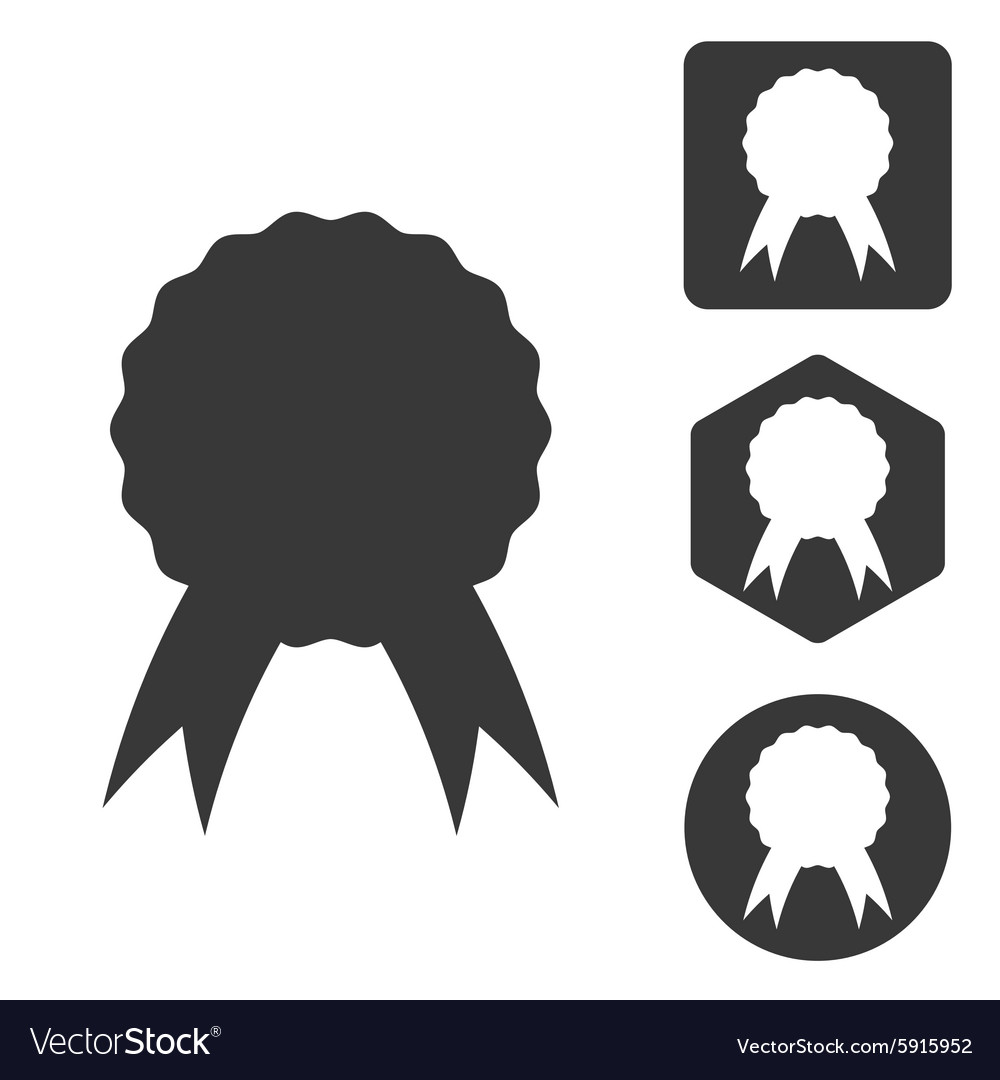 Certificate icon set monochrome vector