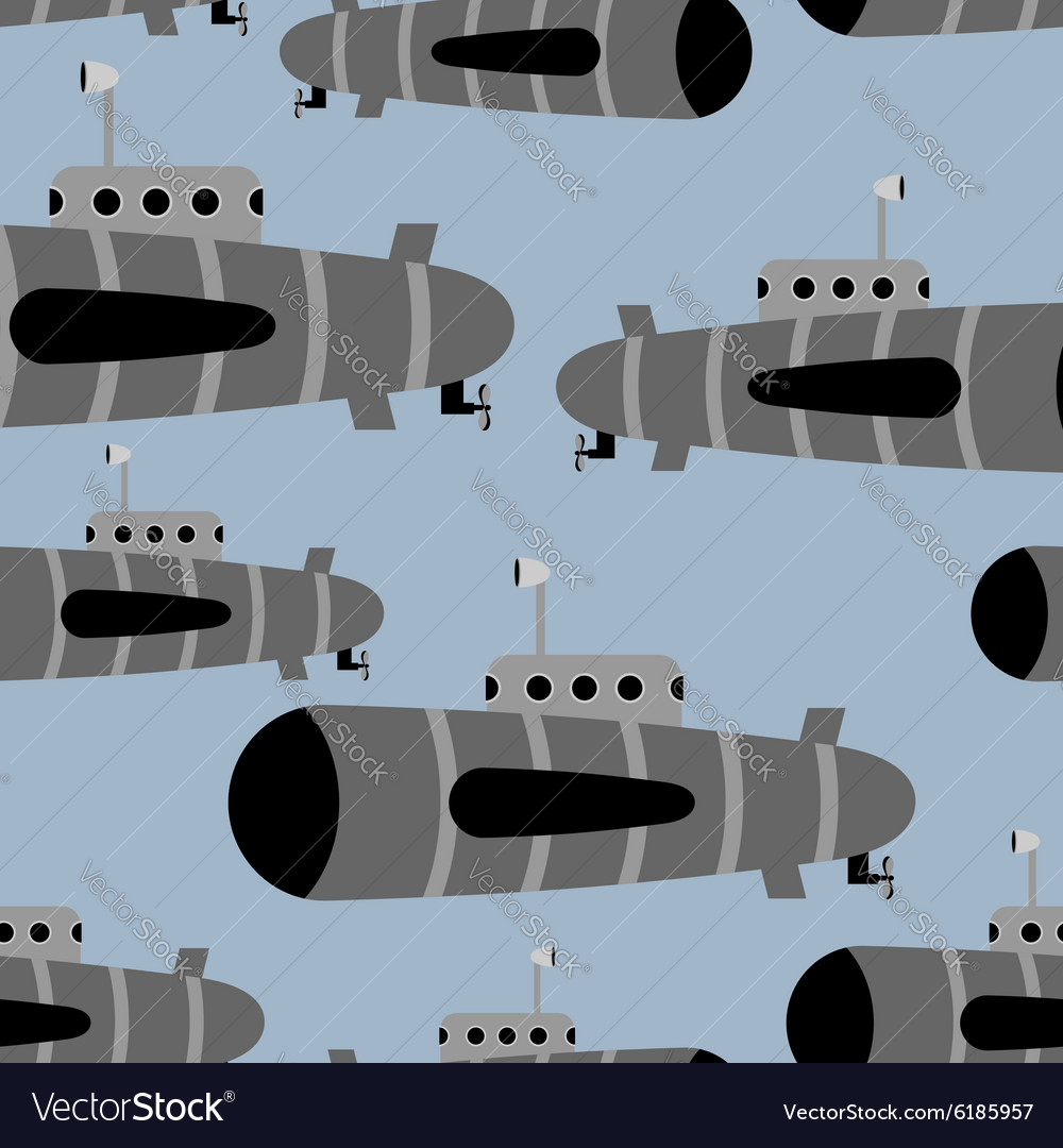 Submarine seamless pattern background of vector