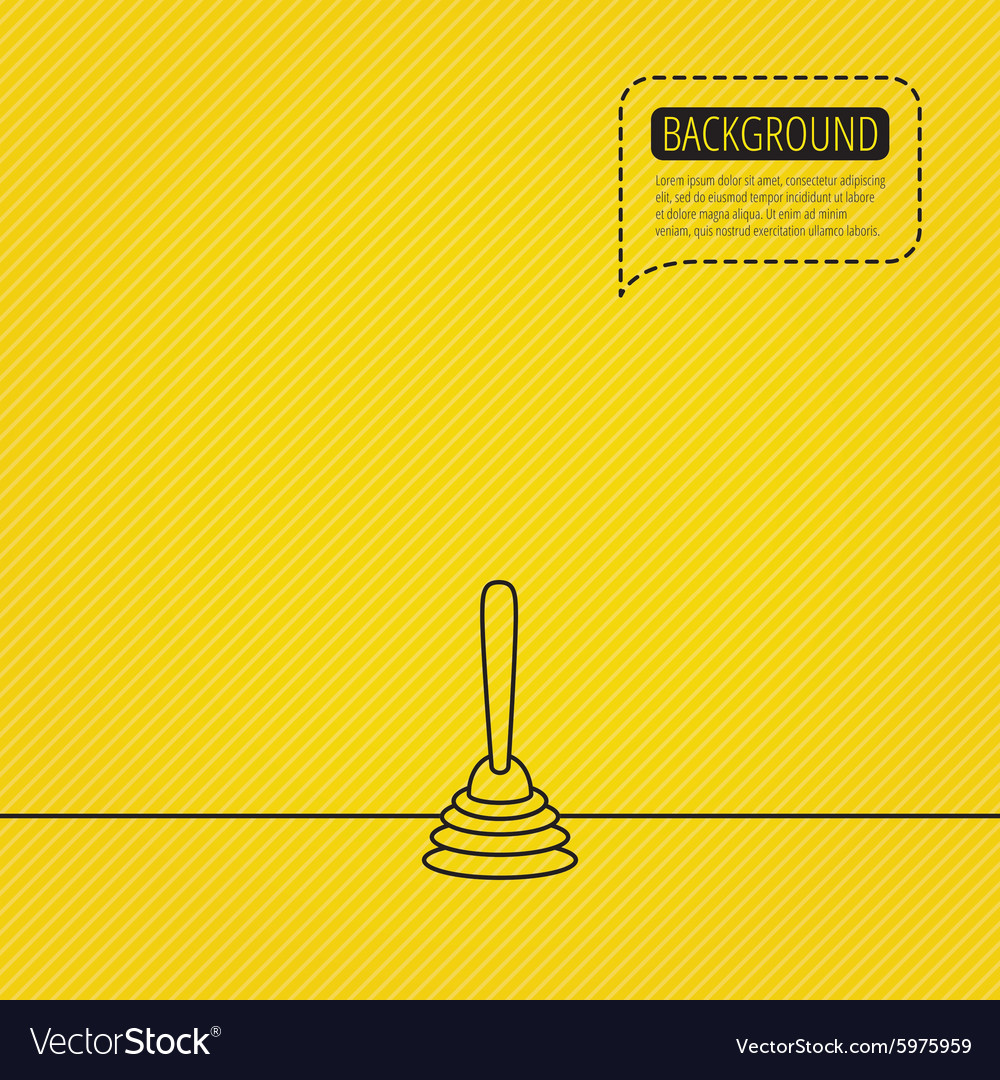 Plunger icon toilet cleaning tool sign vector