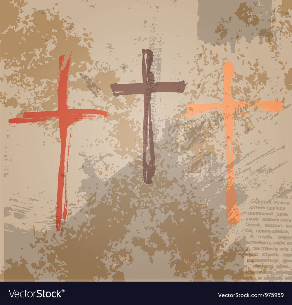 Three crosses vector