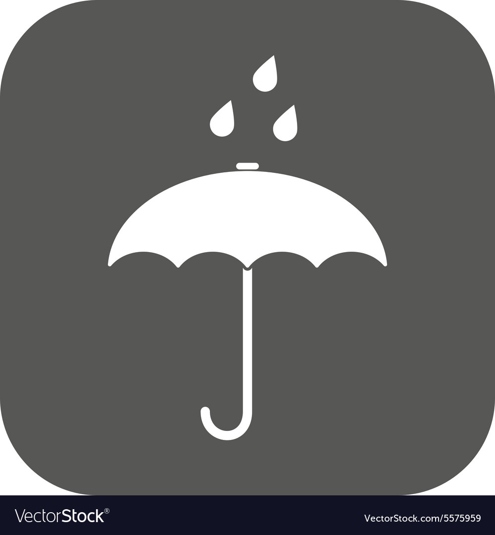 Umbrella bag icon rain protection symbol vector