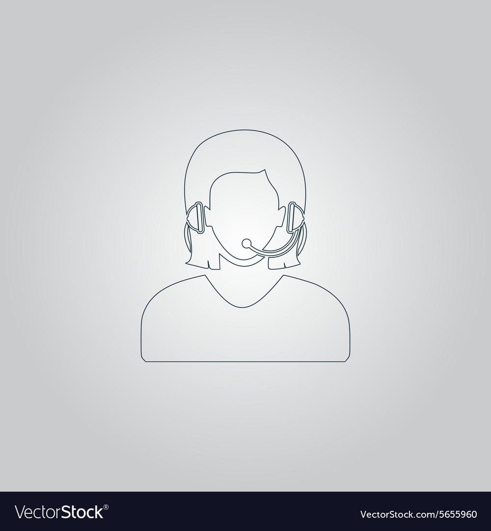 Women customer support vector