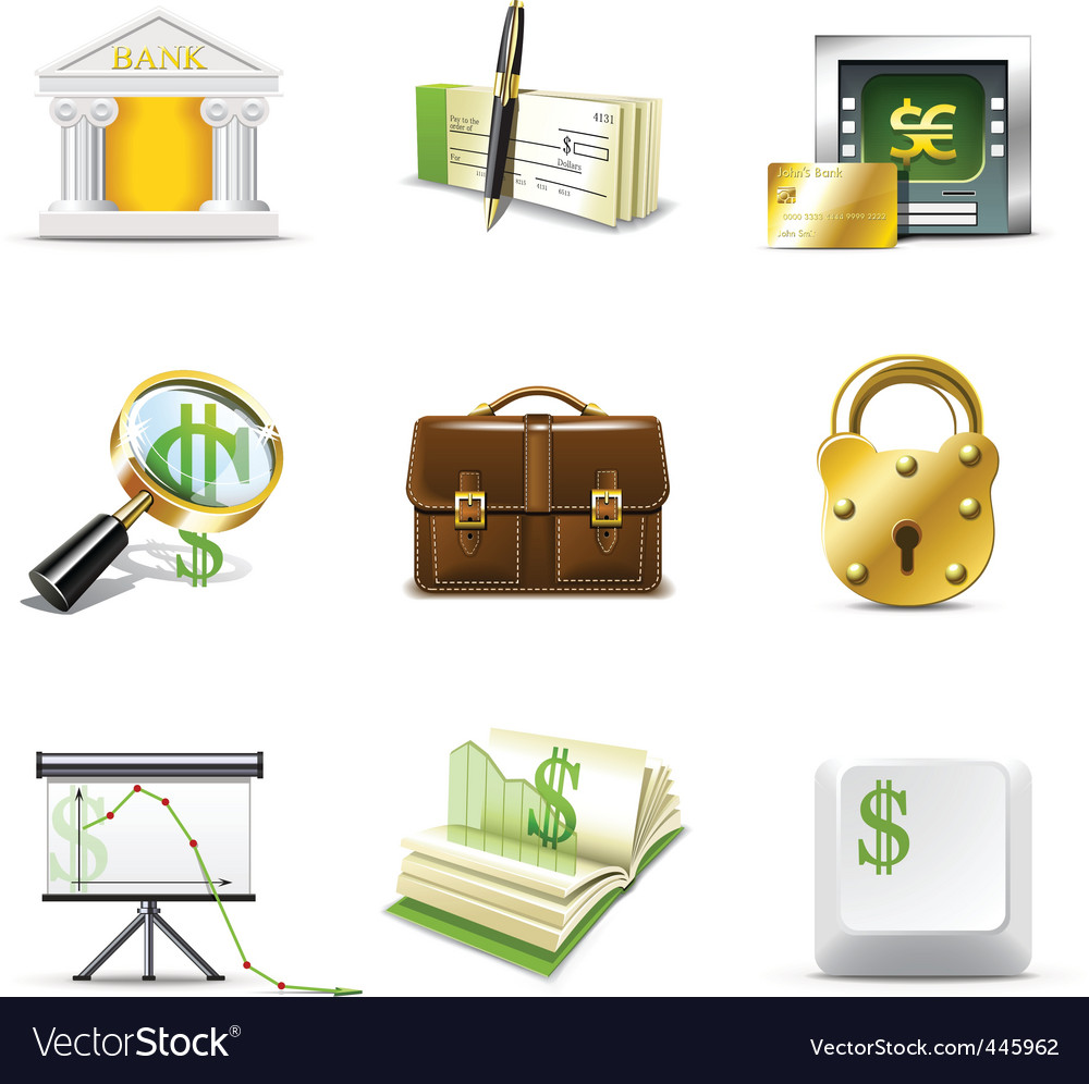 Bank icons  bella series vector