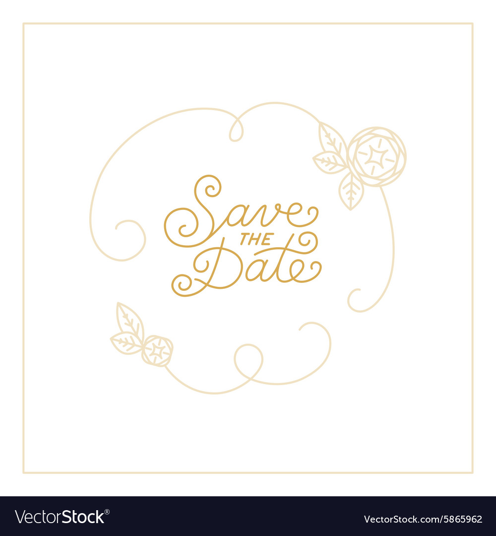 Save the date card design vector