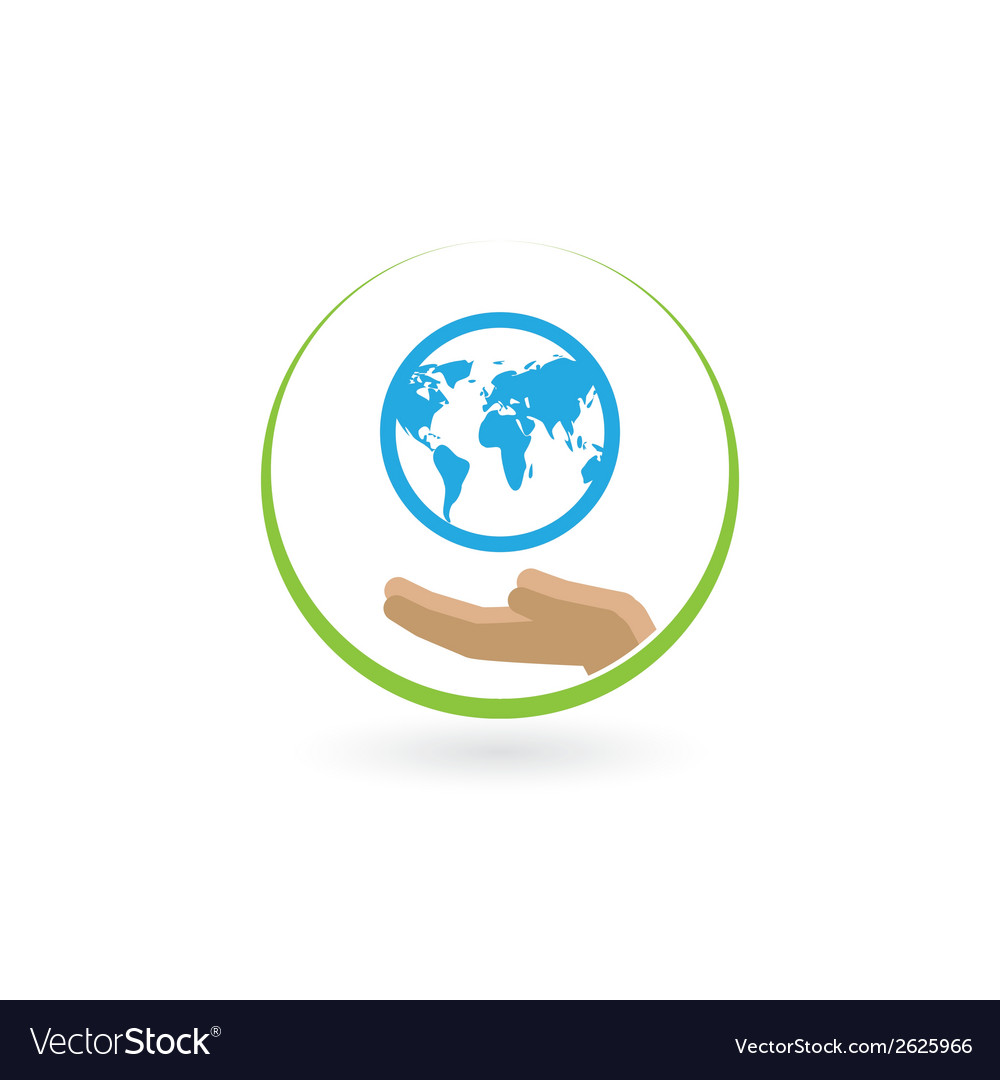 Earth in the palm vector