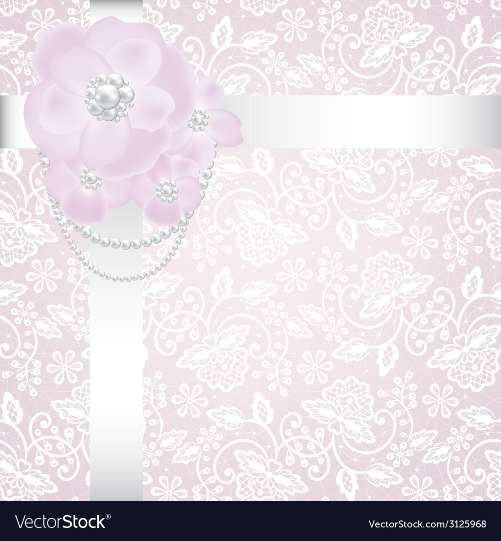 Pearls and roses vector