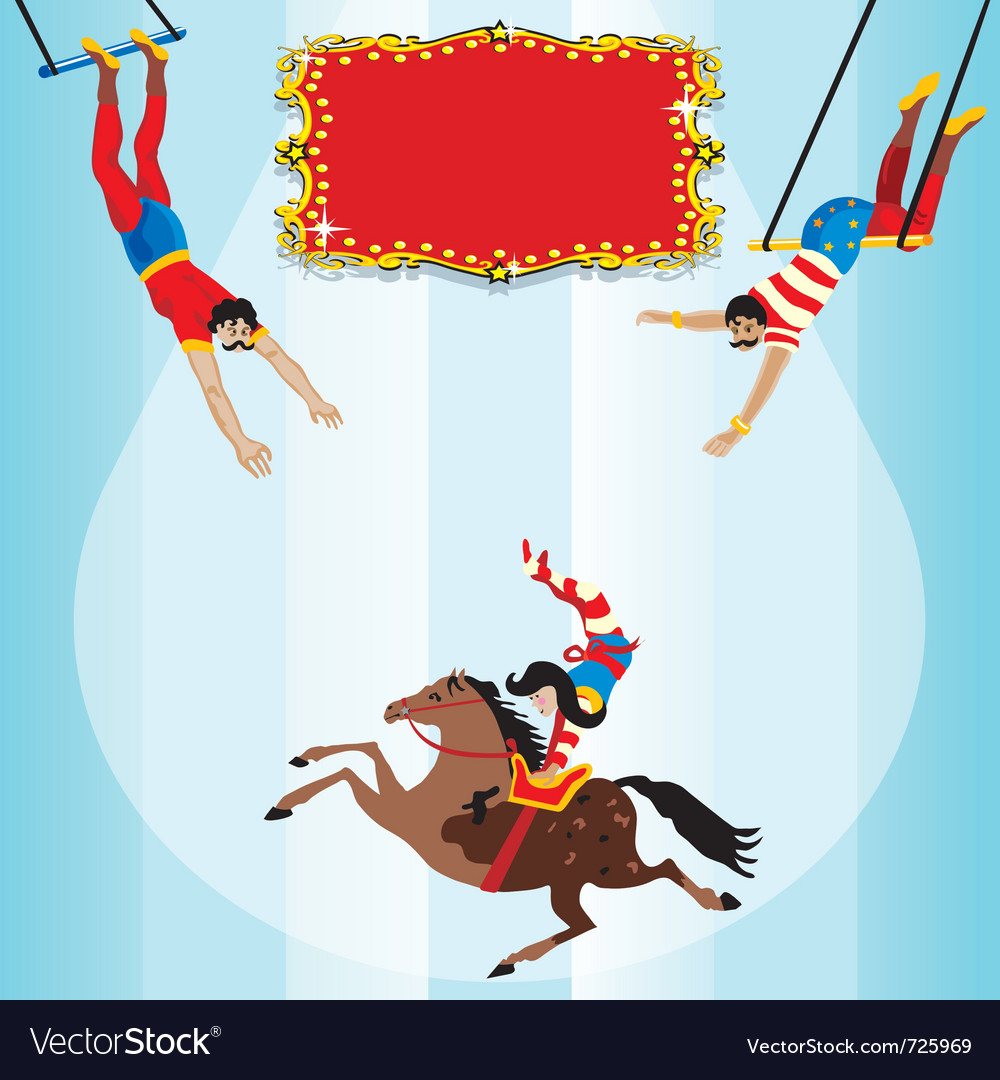 Circus flying trapeze vector