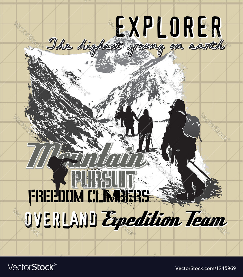 Explorer expedition vector