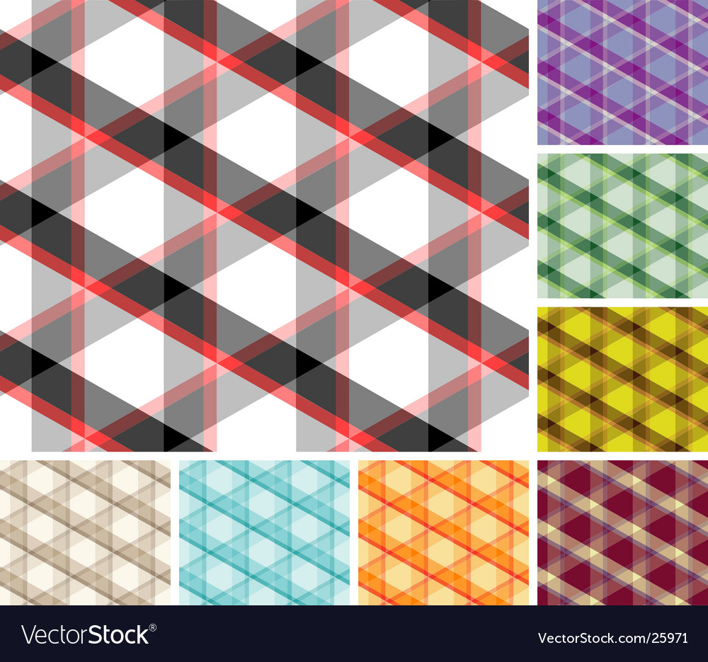 Set of plaids vector