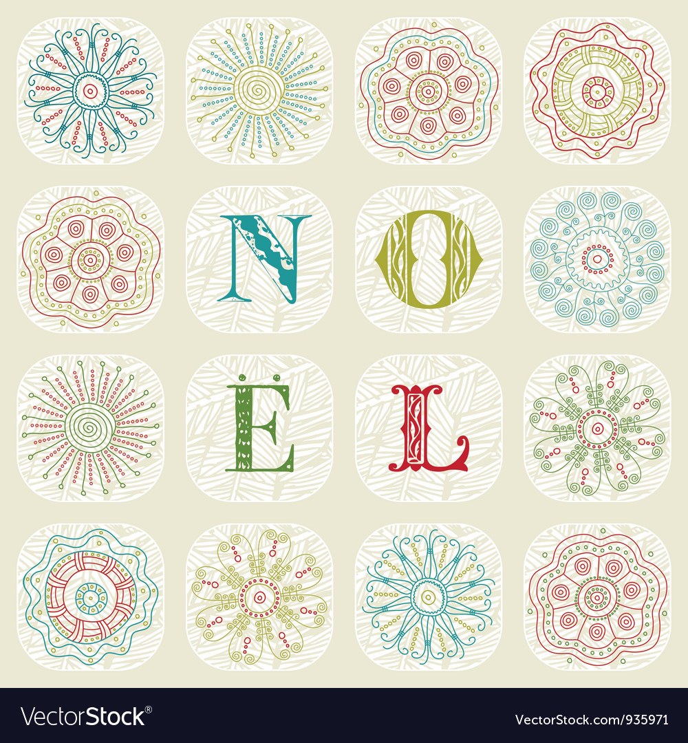 Vintage christmas noel background vector