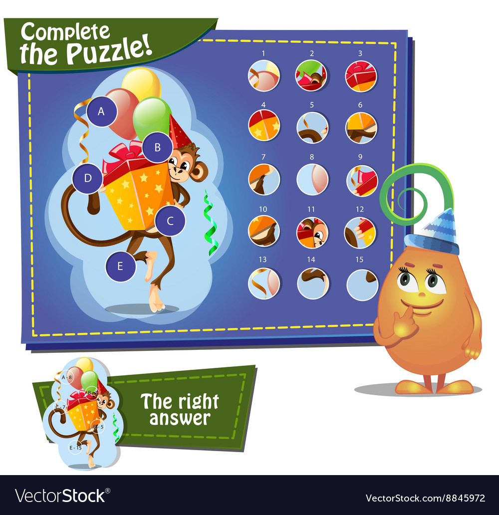 Complete the pazzle gift vector