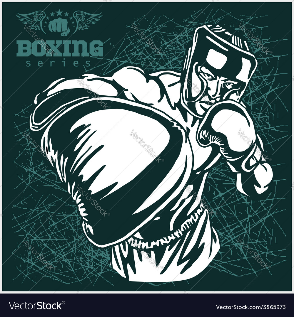 Boxing match  retro on grunge vector