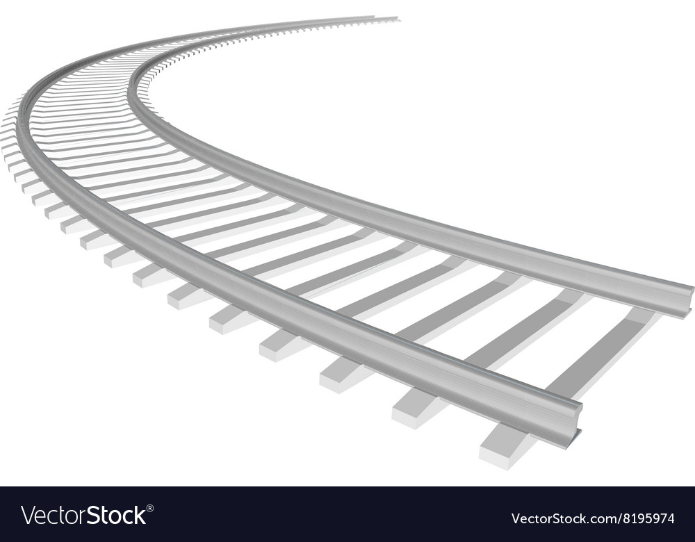 White sleepers and rails vector