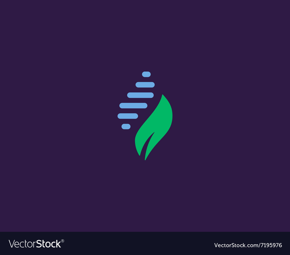 Abstract biotechnology water leaf dna drop logo vector