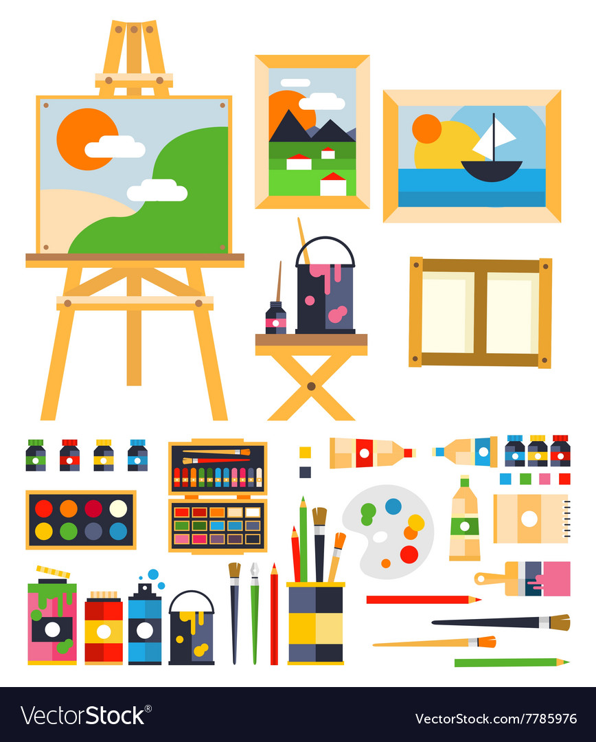 Painting set vector
