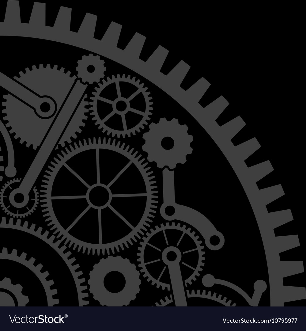 Gear background second variant vector