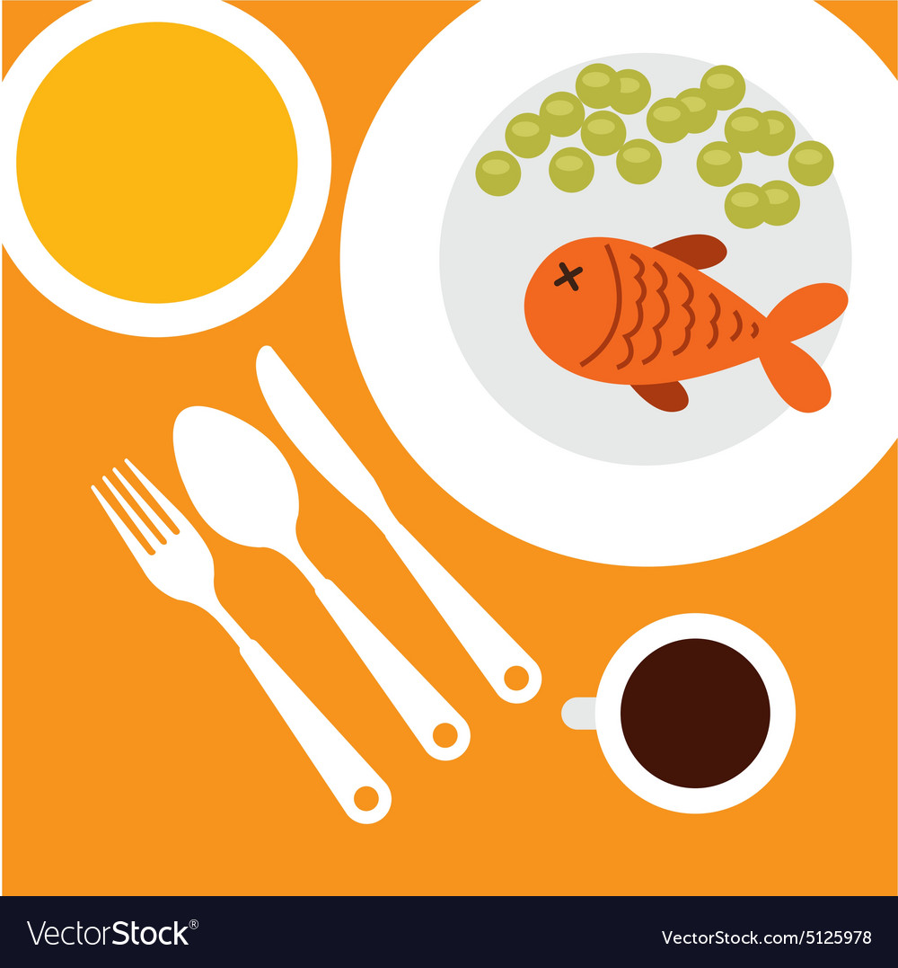 Restaurant menu vector
