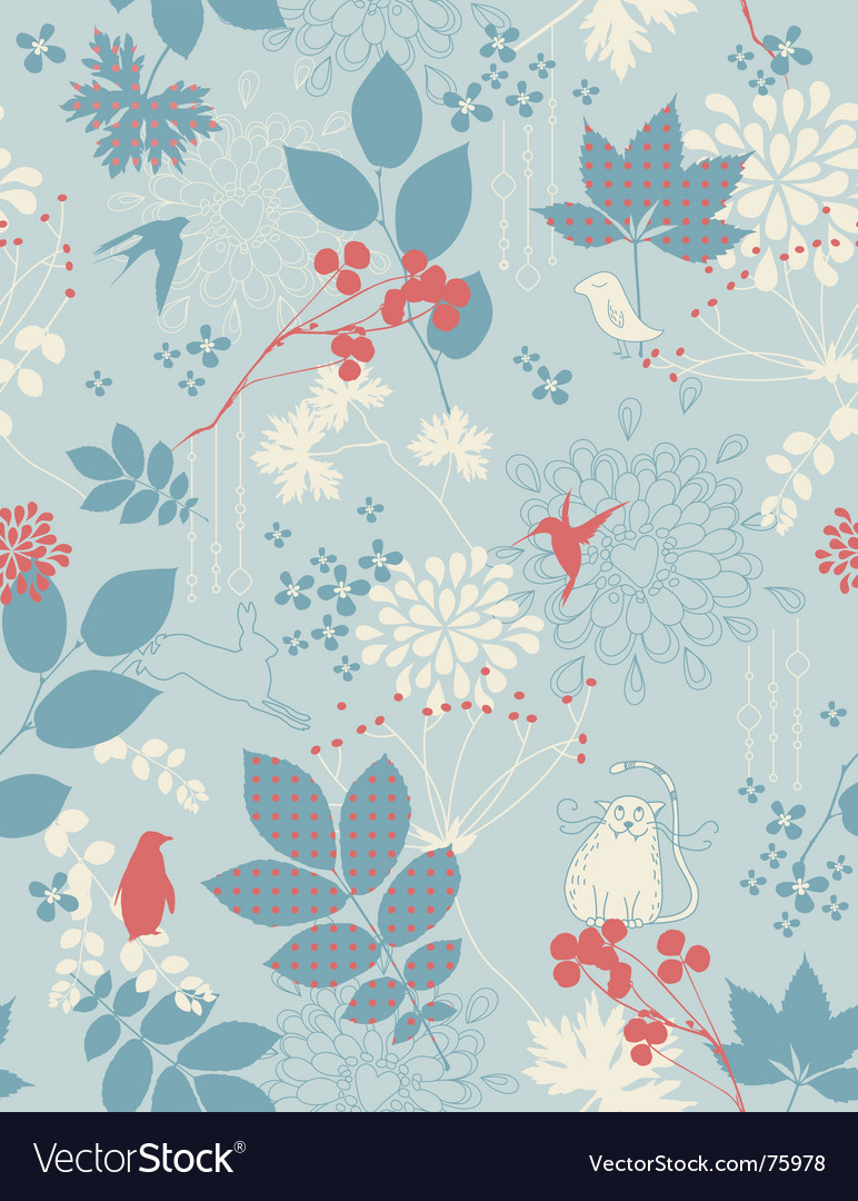 Whimsical seamless vector