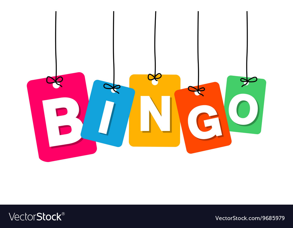 Colorful hanging cardboard tags  bingo vector