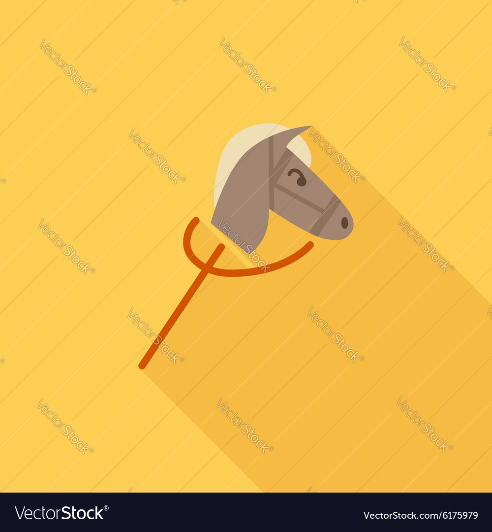Horse toy vector