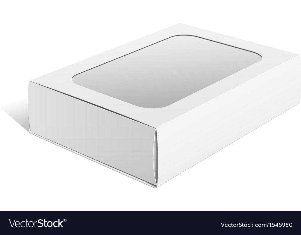 Light realistic package cardboard box with a vector