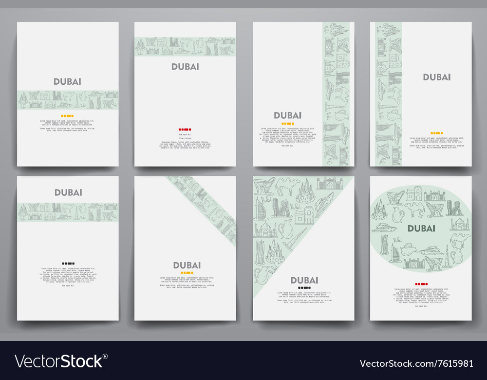 Corporate identity templates set with vector