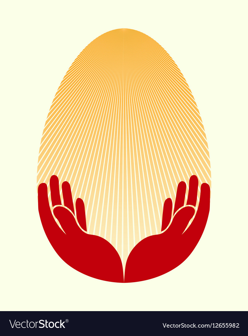 Easter egg handsun vector