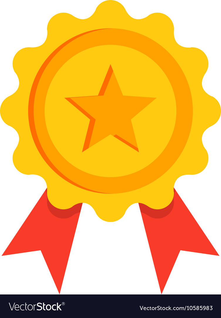 Gold award icon vector