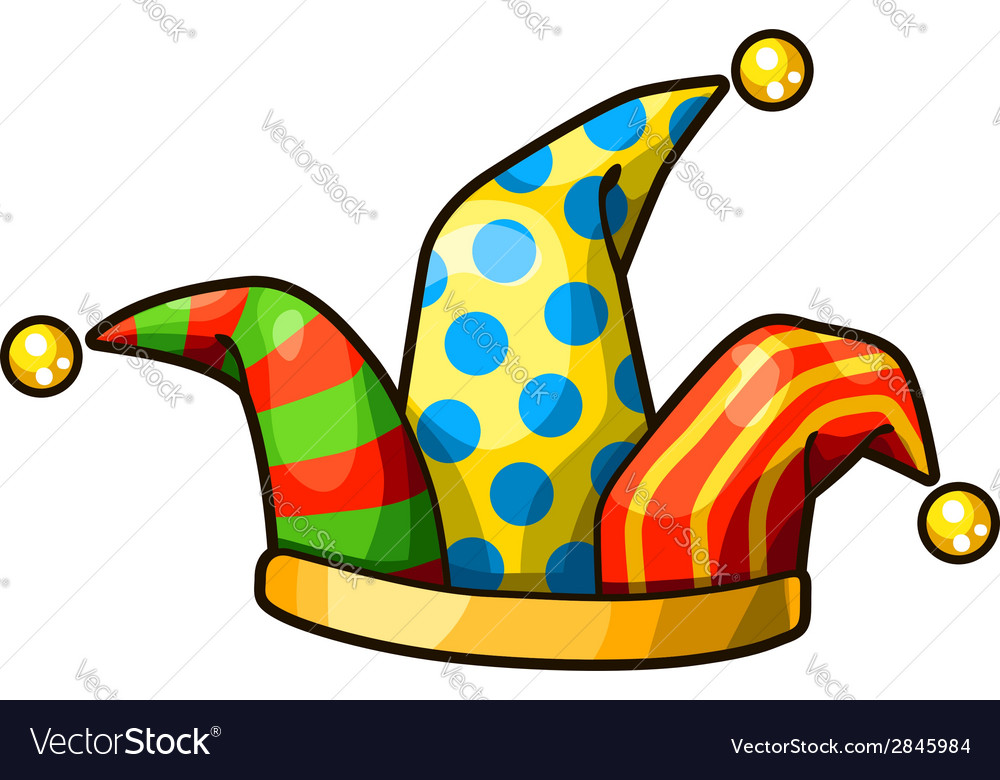 Jester hat isolated on white background vector