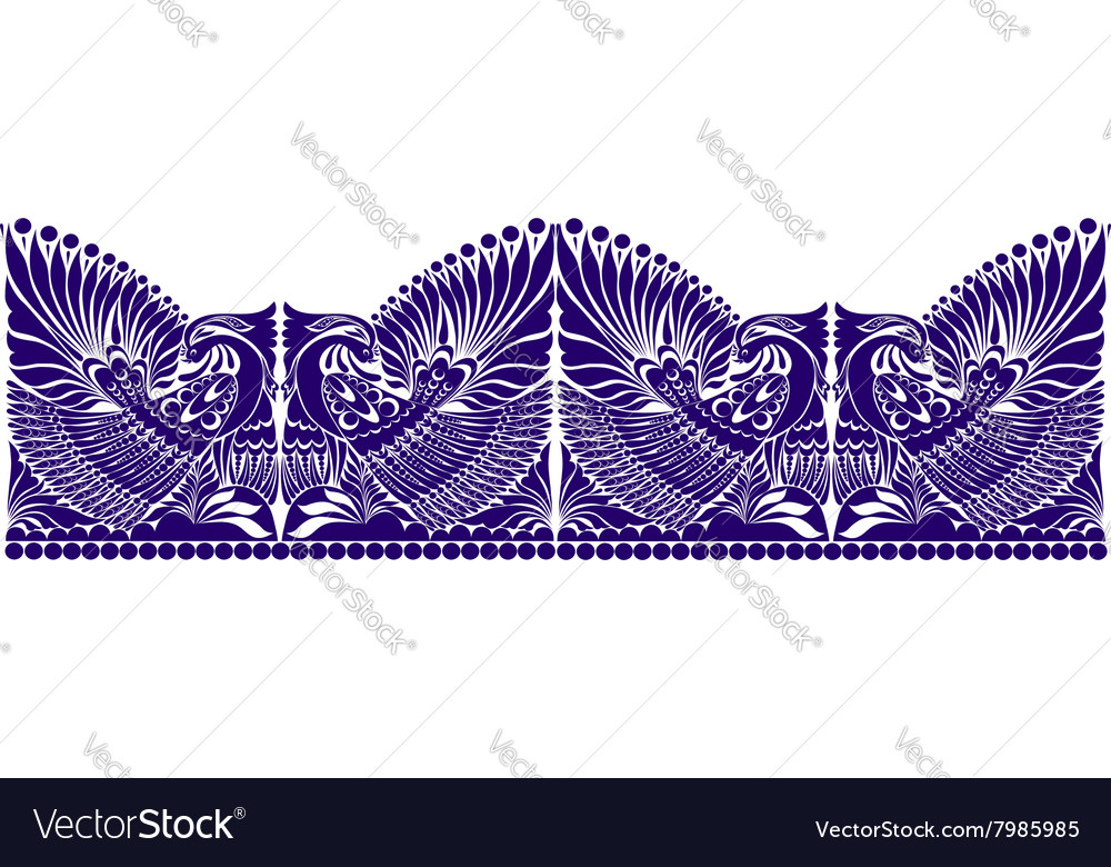 Russian ornament folklore ornament withe vector