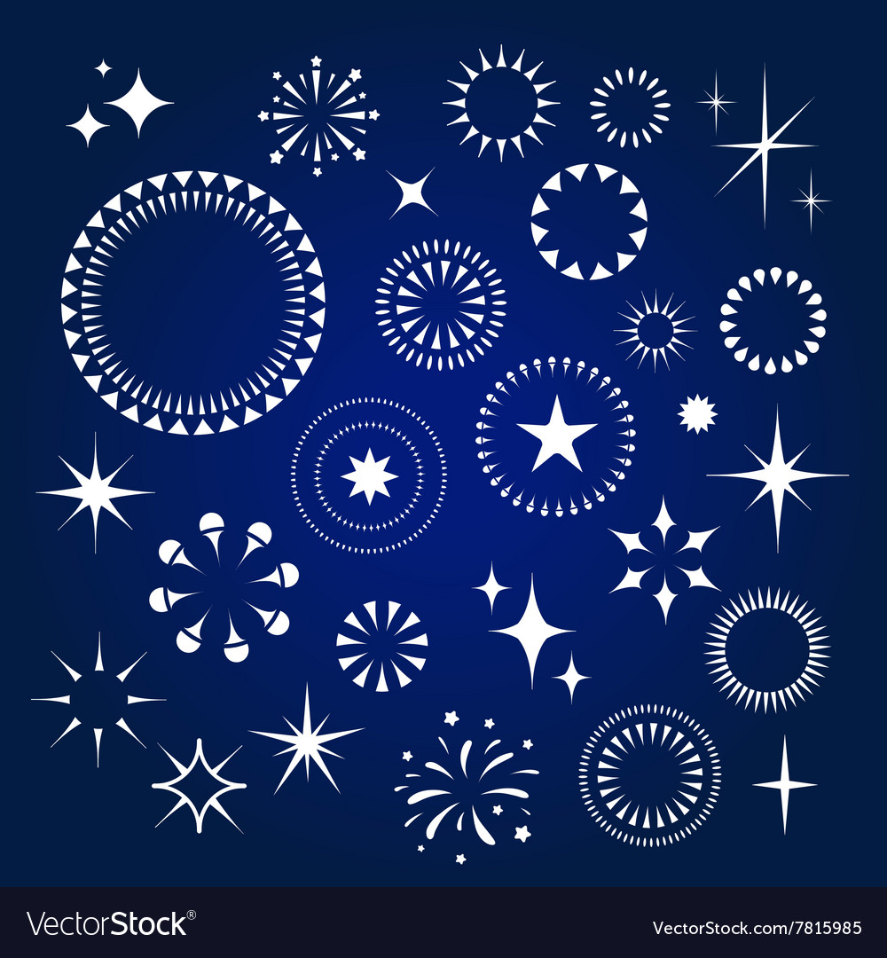 Starburst stars and sparkles burst icons set vector