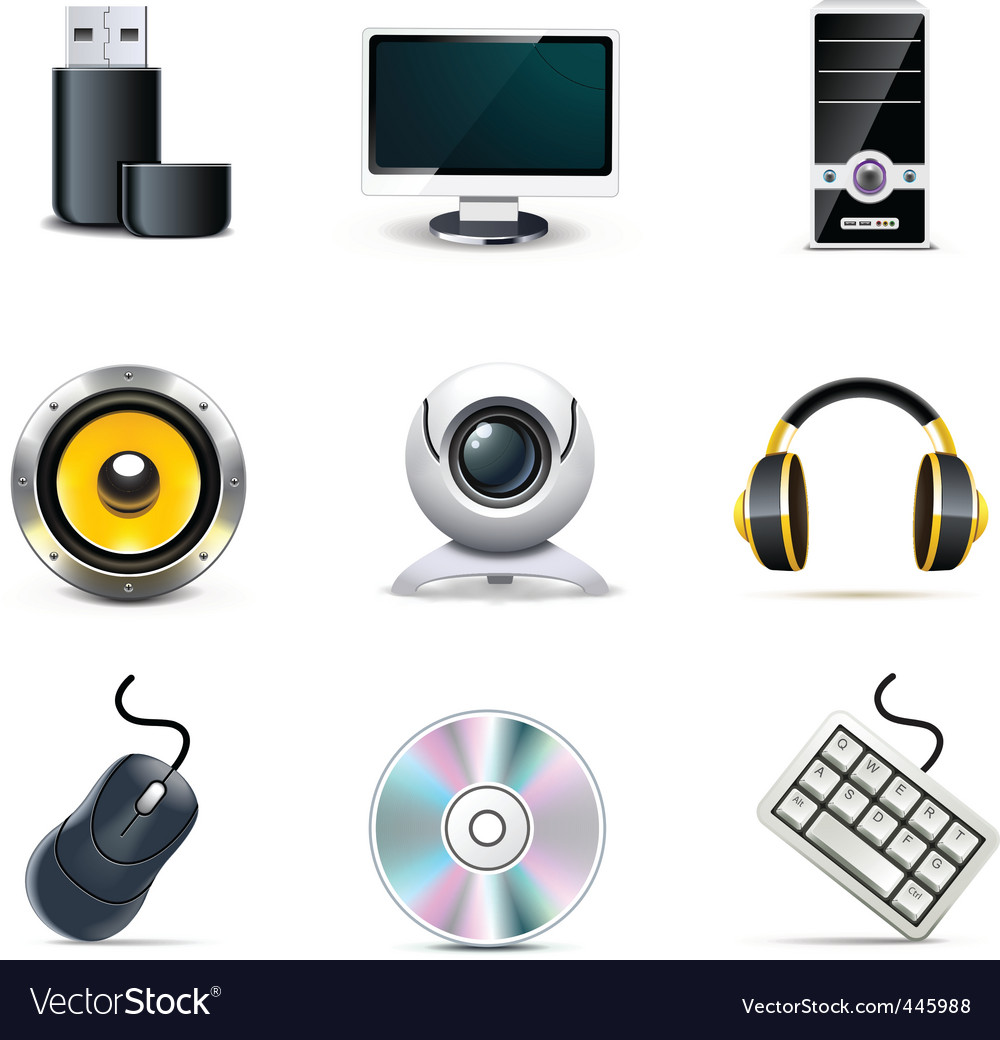Computer parts  bella series vector