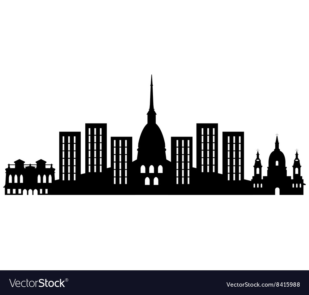 Turin skyline vector