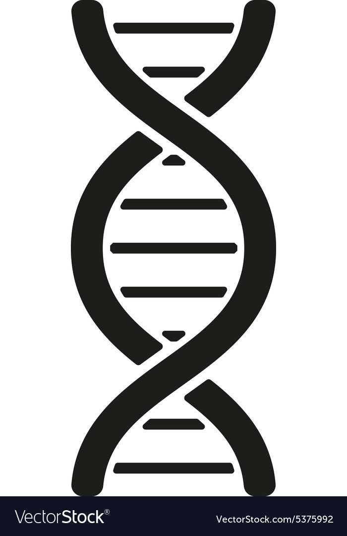 Dna icon dna symbol flat vector