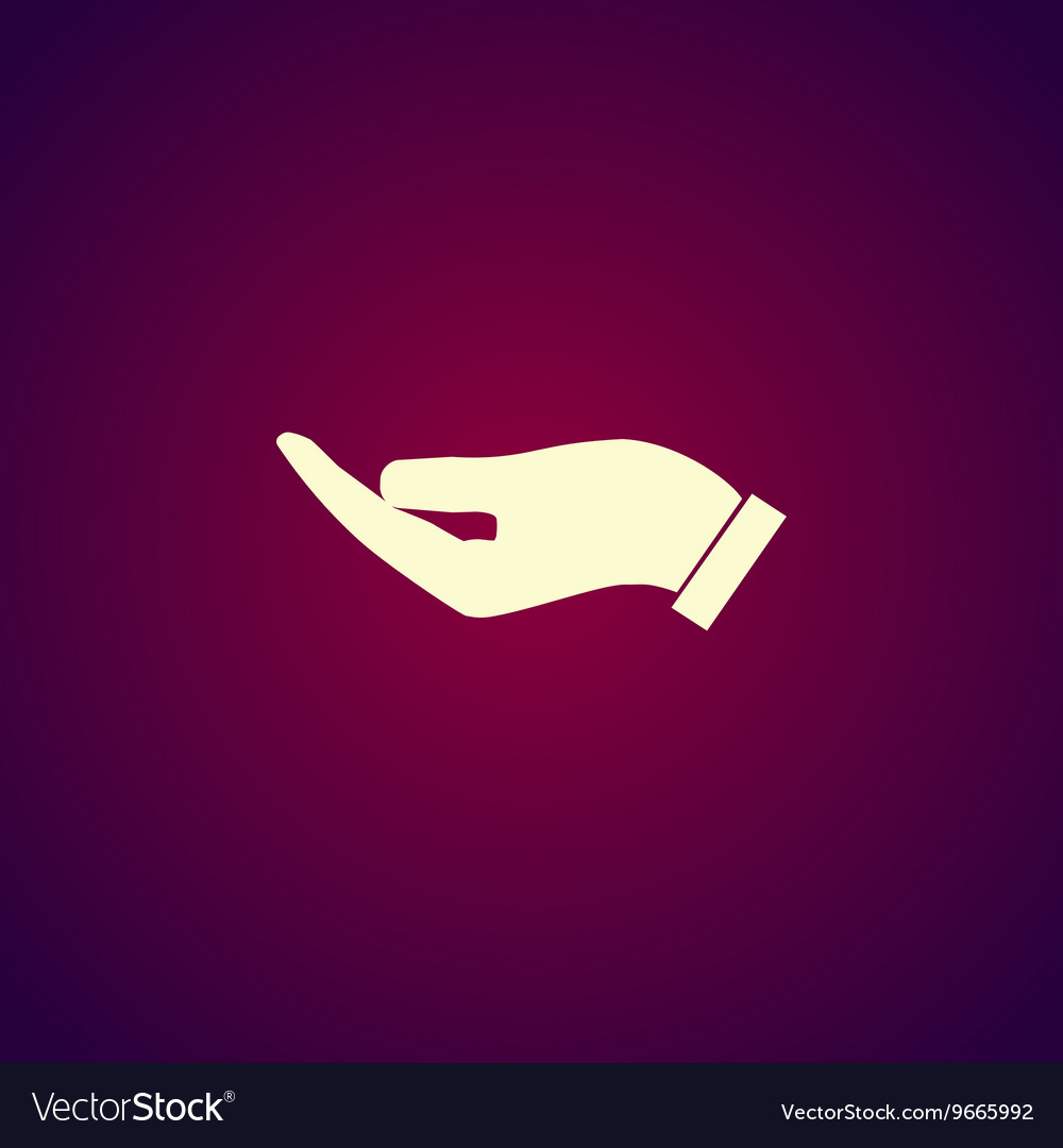 Protecting hands icon vector
