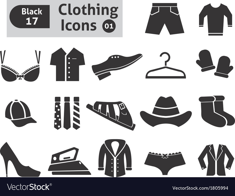 Clothing icons vector