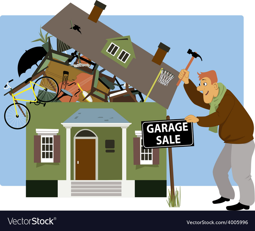 Time for a garage sale vector