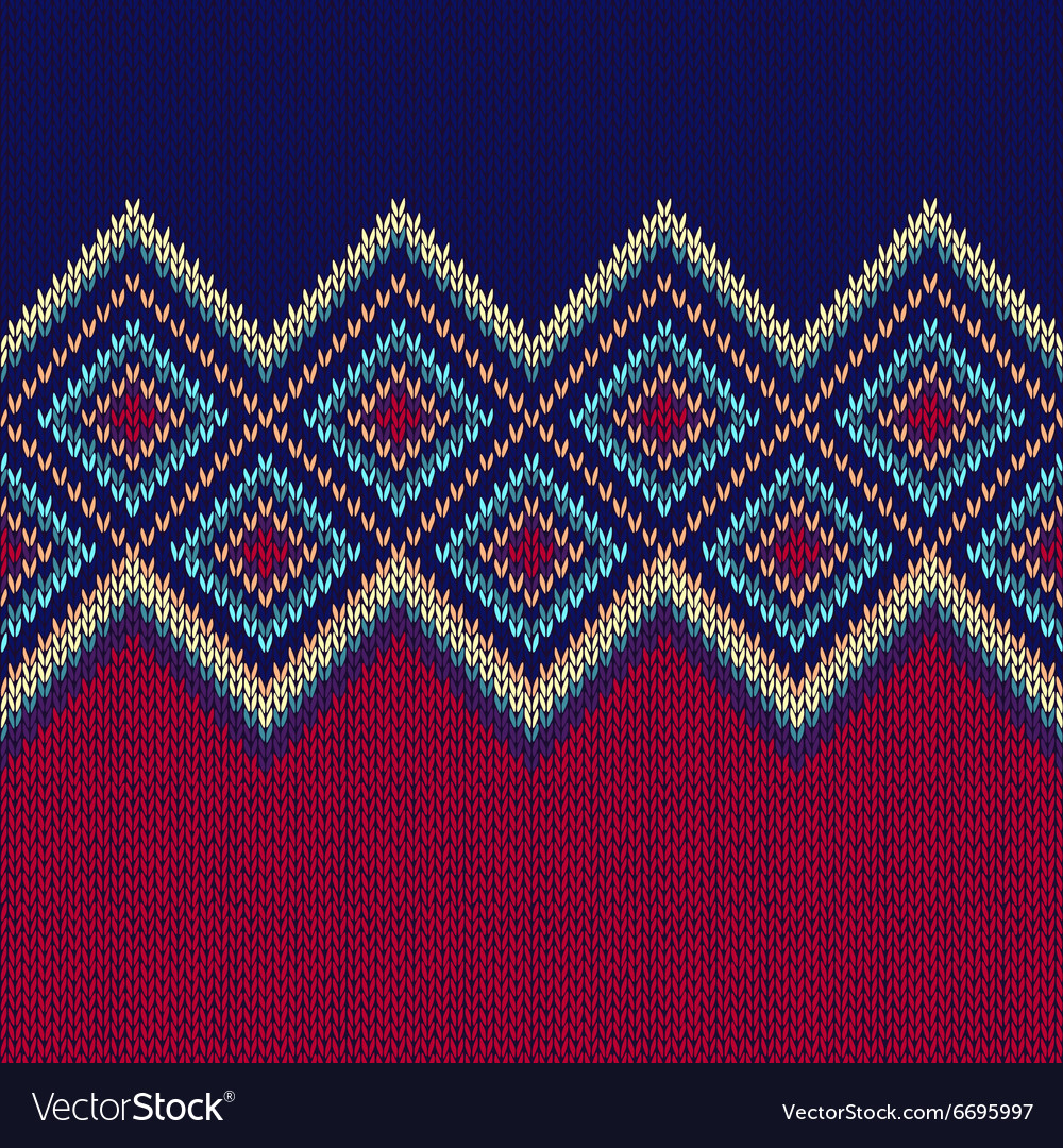 Seamless pattern knit woolen ornament texture vector