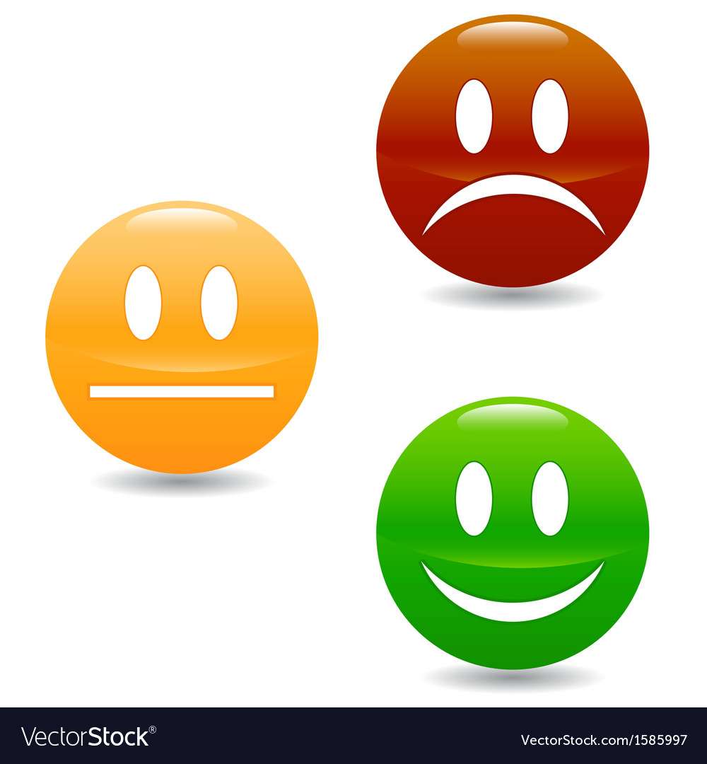 Smile colored buttons vector