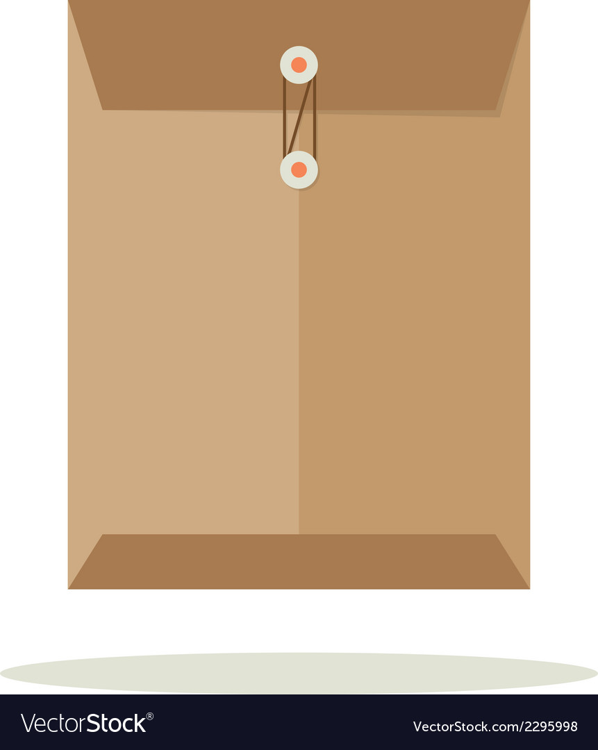 Envelope flat design vector