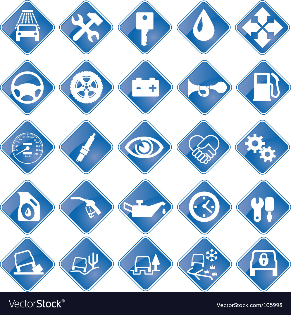 Icons for auto service vector