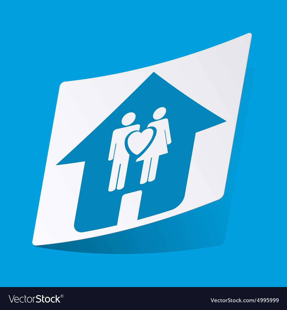 Family house sticker vector