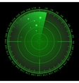 Military green radar screen with target vector image