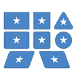 buttons with flag of Somalia vector image