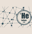 helium chemical element vector image