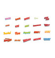 cartoon words label set isolated on a white vector image
